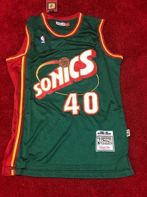 Shawn Kemp super Sonics throwback jersey men's medium for Sale in Atlanta, GA