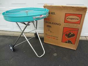 MB New in Box Vintage Mid Century Modern Structo Blue BBQ Grill - $75 (Lincoln Square) for Sale in Chicago, IL