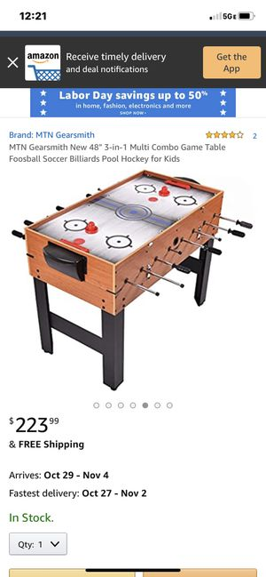Multi combo game table.. foose ball slide hockey and pool table all in one for Sale in Irvine, CA