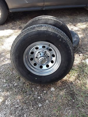 Trailer wheels and tires set of 4 for Sale in Canyon Lake, TX