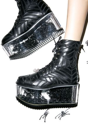 Dolls Kill Harlots Web Boots Womens 7m for Sale in Diamond Bar, CA