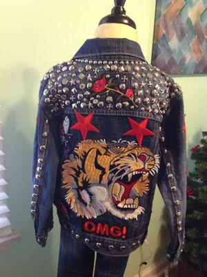 Girls Custom Levi Jacket & Jeans Size 6 for Sale in Detroit, MI