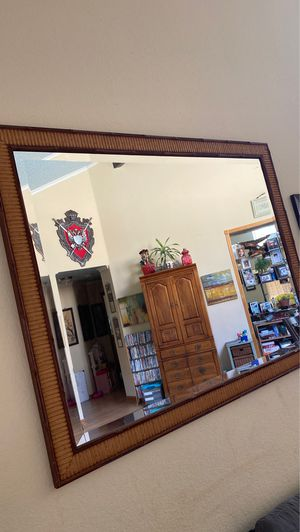 Huge Bamboo Style Mirror for Sale in Pittsburg, CA