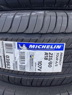 """18"""" MICHELIN PRIMACY TOUR A/S New 235/60R18 ....$149 Each for Sale in La Habra, CA"""