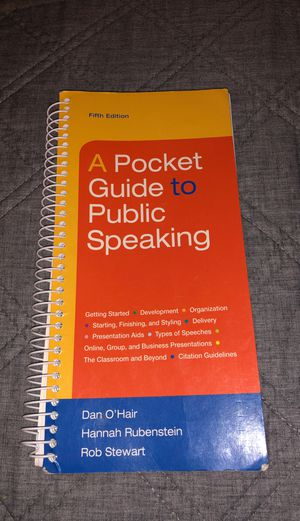 A Pocket Guide to Public Speaking 5 Edition for Sale in Mesa, AZ