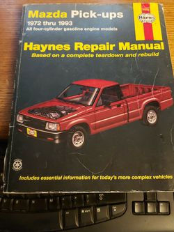Haynes Mazda Pick Up Repair Manual for Sale in Kent,  WA