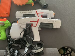 Lot of Nerf guns, laser tag guns and walkie talkies for Sale in Yorba Linda, CA