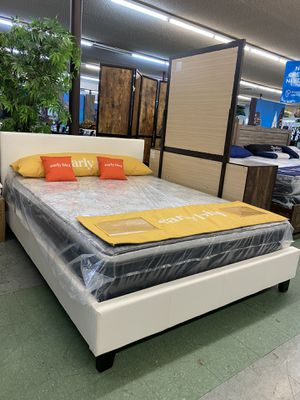 🚚Short Sale🚚 Brand New Queen Size bed frame with mattress $499, Finance available for Sale in North Highlands, CA