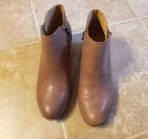 Lucky Brand Burklee Side Zip Leather Ankle Boots Womens Sz.8 for Sale in Addis, LA