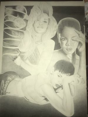 Rihanna portrait for Sale in Dallas, TX