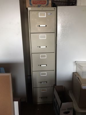 5 drawer file cabinet - lots of hanging files for Sale in San Diego, CA