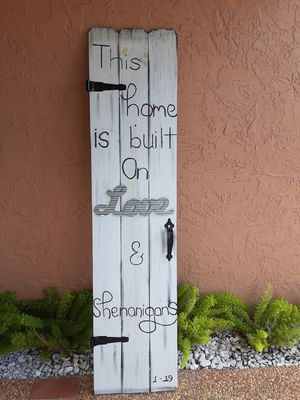 Rustic decor sign for Sale in Fort Lauderdale, FL