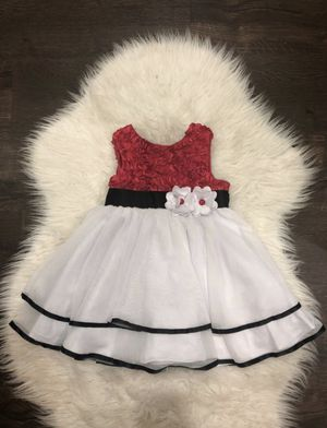 Red and white party dress 24 mths for Sale in Portland, OR