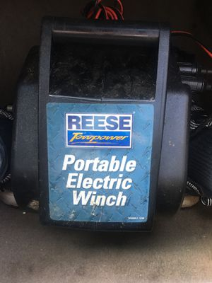 Reese tow power portable electric winch for Sale in Houston, TX