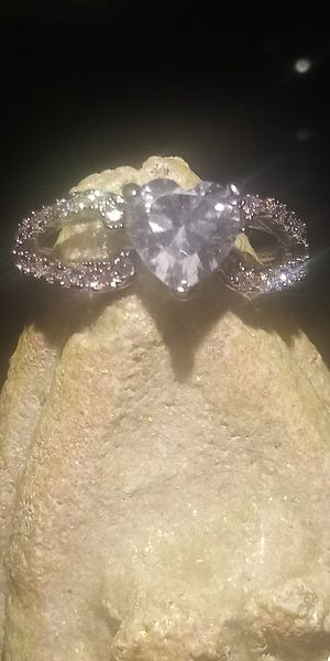 Gorgeous sterling silver size 6 ring with white ice stones. for Sale in Cedar Rapids, IA