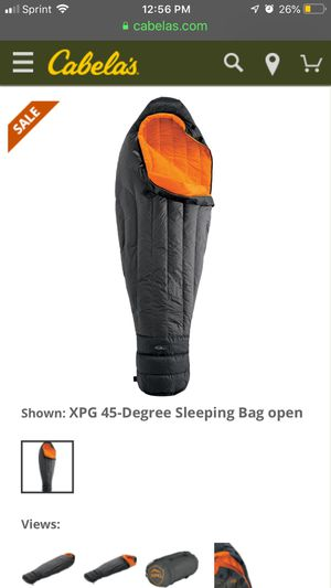 Cabelas xpg sleeping bag NEW for Sale in Stockton, CA
