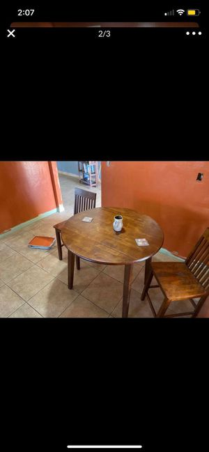 Breakfast nook dining table with two chairs for Sale in Bakersfield, CA
