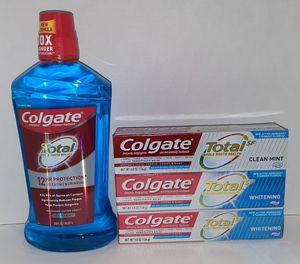 Brand New Colgate Total Oral Hygiene Care Bundle for Sale in Visalia, CA