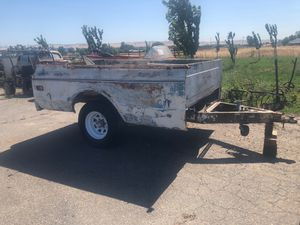 1967 - 1972 Chevy c10 c20 long bed utility trailer no papers YES ITS AVAILABLE for Sale in Tracy, CA