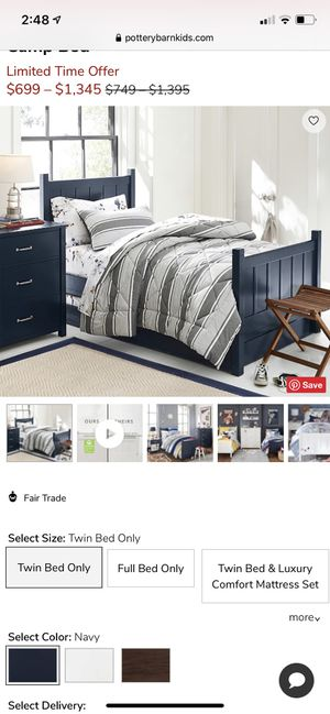 PB kids Twin bed (set, two) for Sale in Everett, WA