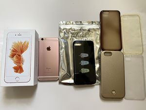 iphone 6S 128GB Rose Gold unlocked with cases for Sale in Los Angeles, CA