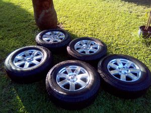 "18"" 5x5 Jeep/Chevy/GMC Wheels with brand-new Michelin tires for Sale in Richardson, TX"