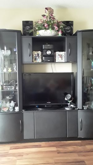 Black entertainment center for Sale in Tamarac, FL