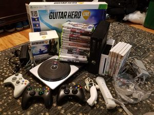 Nintendo Wii+ xbox360 +accessories +20games for Sale in Tampa, FL