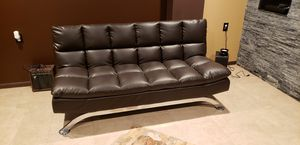 Great buy! Awesome Brown Faux leather daybed. Never used. Estate moving for Sale in Southfield, MI