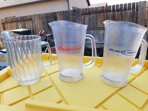 Bud and bid light Beer pitchers for Sale in Fresno, CA