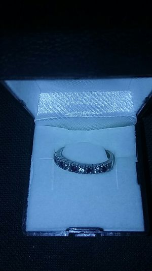 Ruby and white cz ladies ring for Sale in Garrison, ND