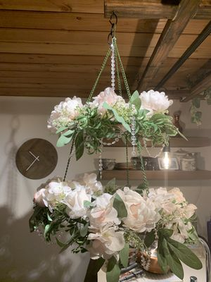 Hanging flower chandelier decoration - ballard for Sale in Seattle, WA