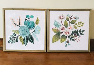 Wooden floral prints for Sale in Deer Creek, IL