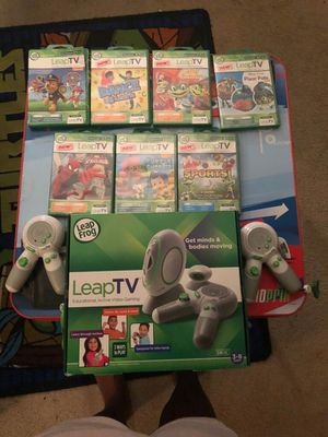 Leap frog console and games for Sale in Durham, NC