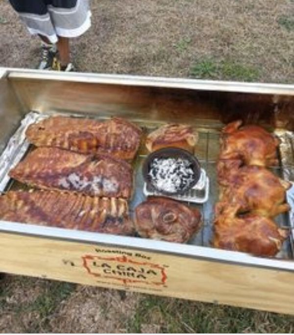 Pig roaster ( grill Weber cook stove hunting rv camping