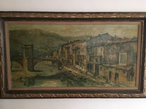 Antique 20th Century Beautiful Painting for Sale in Pasadena, CA