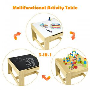 Kids Table Chairs Set With Storage Boxes Blackboard Whiteboard Drawing for Sale in Palmdale, CA