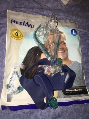 NEW ResMed Mirage Quattro Full Face CPAP Breathing Mask Size Large 61203 for Sale in University Heights, OH