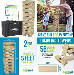 Jenga. Giant Tumbling Timber Toy - Jumbo Wooden Blocks Floor Game for Sale in UPLAND, CA
