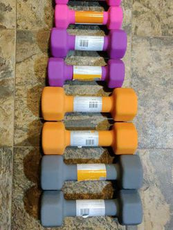 New Dumbbell Set 10lb 8lb 5lb 3lb - 56lb Total for Sale in Tacoma,  WA