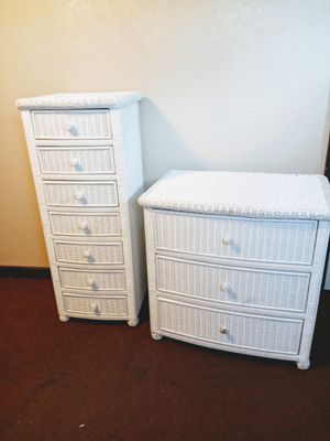 Wicker Bedroom Furniture- lingerie chest and dresser for Sale in Colorado Springs, CO