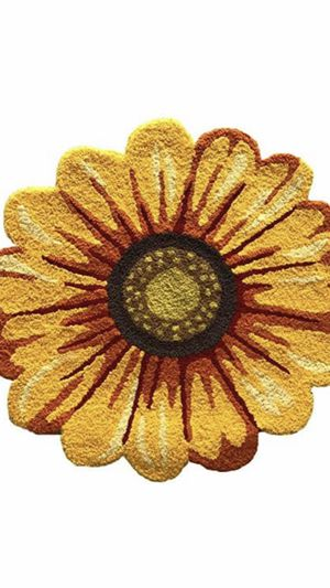 Yellow Sunflower Rugs for Bedroom/Living Room/Bathroom/Kitchen - Hand Woven Home Decoration Mat Modern Welcome Mat, Washable Non-Slip Indoor Rugs for Sale in Las Vegas, NV