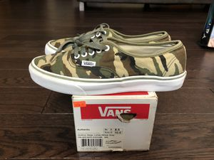 Vans Authentic Camo size 8.5 men worn for Sale in Yorba Linda, CA