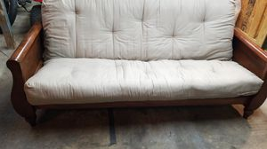 Futon with spring mattress (very comfy) for Sale in Garner, NC