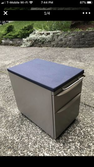 "Mobile filing cabinet 27.5"" H x 23""D x 15""W with seat cushion for Sale in Lynnwood, WA"