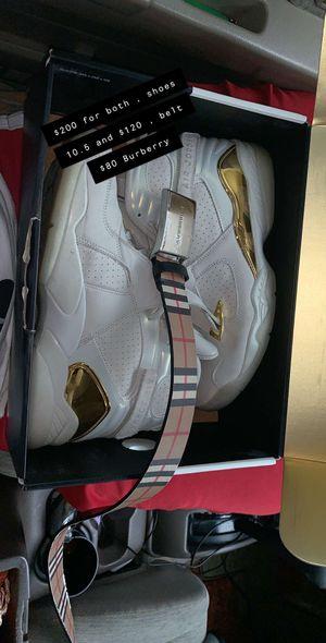 Jordan's 8s and Burberry Belt for Sale in Nashville, TN