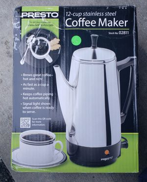 Presto 12 Cup Stainless Steel Coffee Maker for Sale in Los Alamitos, CA