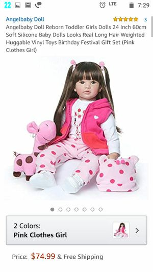 BRAND NEW 60CM high quality reborn toddler adorable princess girl doll for Sale in Arlington, VA