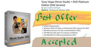 Sony, Vegas Movie Studio, Platinum Ed for Sale in Montebello, CA