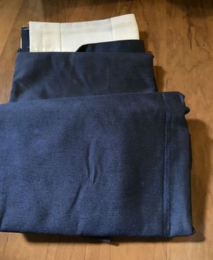 JC Penny Home Collection Navy Blue Curtains *Lined* for Sale in Puyallup, WA